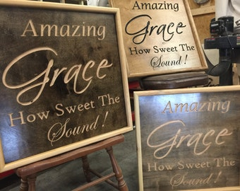 2' x 2' Carved sign