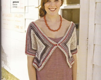 Linsey Geometry - Berroco Knitting Pattern Book #319 8 designs for Women by Norah Gaughan
