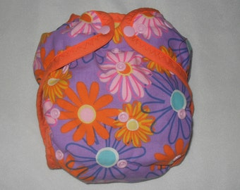 Flowers One size PUL diaper cover