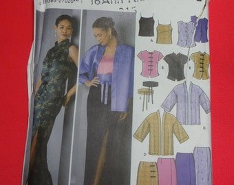 UNCUT Simplicity #5343  Misses' Camisole, Top, Kimono, Skirt and Obi-Belt 2003