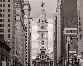 City Hall, Philadelphia Photography -  Fine Wall Art -  Vintage Print -  Black and White