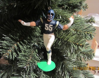 Junior Seau or Dan Fouts  San Diego Chargers PLEASE SEE DESCRIPTION custom football sports ornament many to choose from