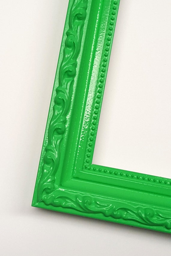 Green Ornate Solid Wood Photo Picture Frame Shabby Chic Style with ...