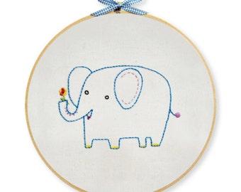 KIT embroidery elephant wall art
