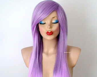Ombre wig. Scene/Emo hair wig. Pastel Lavender wig. Long straight light purple ombre wig.Durable heat friendly wig for daily use or Cosplay.