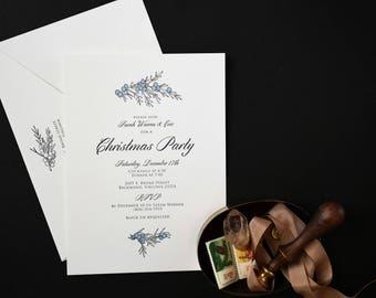 SAMPLE - Letterpress Party Invitation