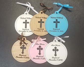 Personalized Baptism Ornament