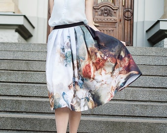 BOUCHER fine art print skirt | Marriage of Cupid and Psyche | sweet classic lolita OLD MASTERS redoux gothic victorian prom rococo baroque