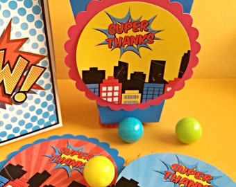 Superheroes Tag, Superhero Birthday Tag, Favor Tag, Super-Hero Thank you Tag, Gift Tag, Treat Tag, Cupcake Digital Topper, Personalized