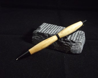 hand turned mechanical pencil in sycamore