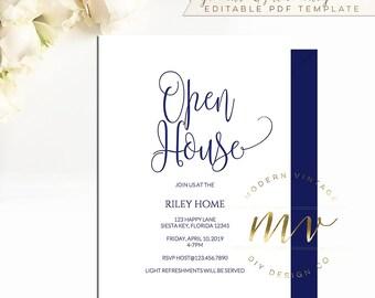 Open house invite etsy open house invitation stopboris Choice Image