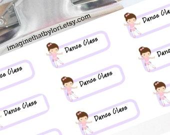 Dance class stickers