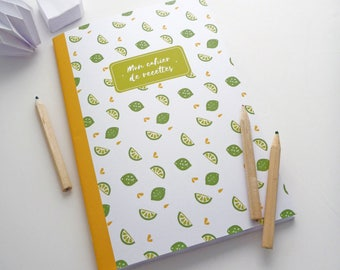 Illustrated limes 14x20cm recipe book