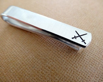Swords Tie Bar - Custom Tie Clip