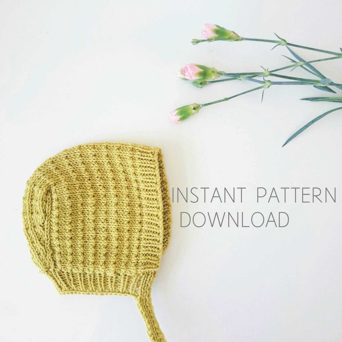 Baby bonnet knitting pattern \