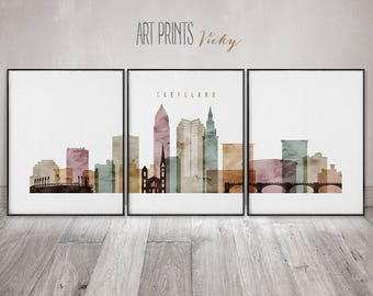 Skylines & maps 3 pieces