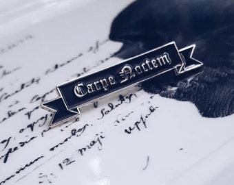 Carpe Noctem [ Seize the night ] Lapel Pin By VOIDEaD