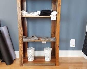 Shipping Included! Handmade rustic reclaimed multi-function rustic shelves - barnwood bookshelf or bookcase, display shelf, bathroom storage