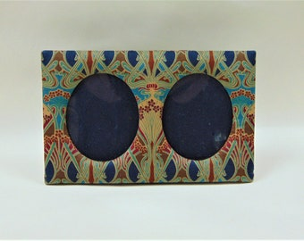 Liberty of London Photo Frame William Morris Ianthe Design Fabric Covered Double View Frame Home Decor Ornaments Accents