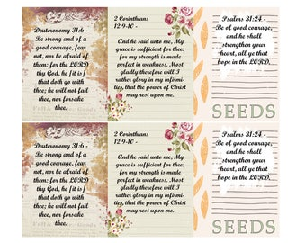 Scripture Cards Seeds- instant download