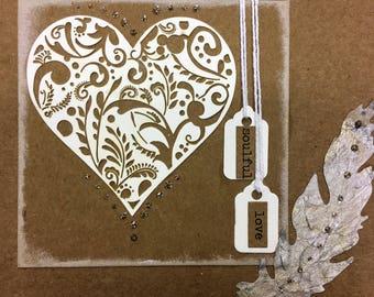 Hearts - soulful love - card
