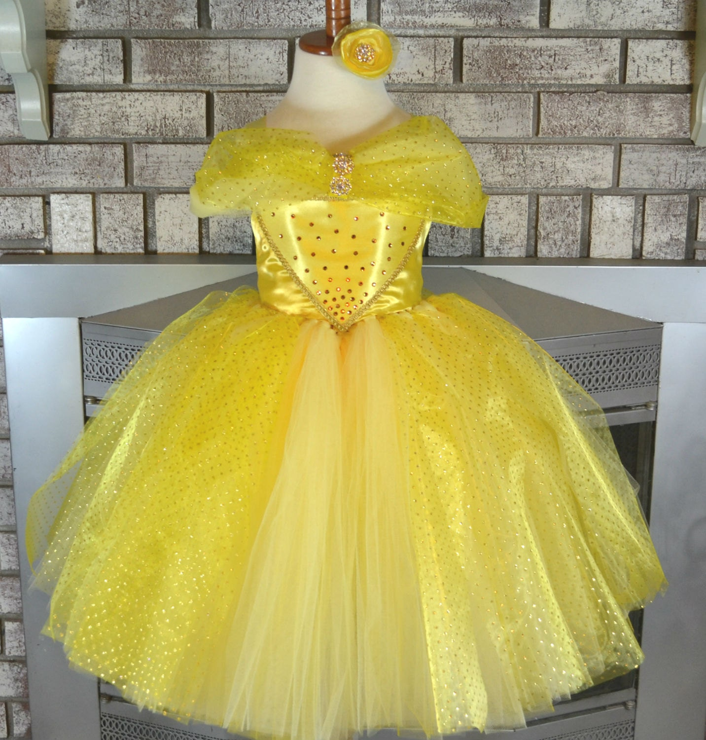 Fabuleux Yellow Princess Tutu Dress Yellow Dress Yellow Tutu Yellow DY62