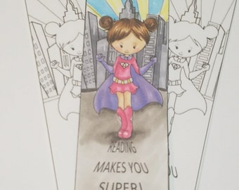 Reading Makes You Super Bookmark/ Girl