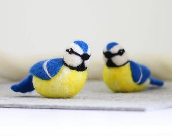 Blue Tits Needle Felting Kit, Needle Felted Animal, Felting Kit, Needle Felted Bird, Felt Animals, Felting Wool, Needle Felting Kit, DIY Kit