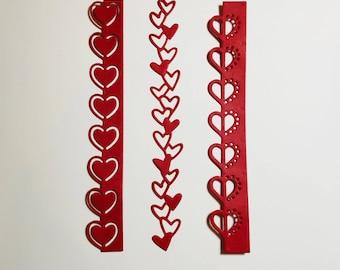 12 Valentine Heart Trim Die Cuts
