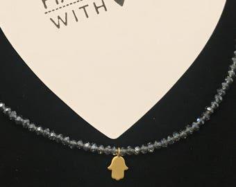 Hamsa choker necklace