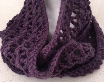 Cowl, Infinity Scarf, Soft, Dusky Purple, Big Yarn