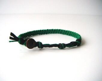 Green Hemp Bracelet, Hemp Anklet, Indie Hemp Works, Hemp Bracelets, Hemp Anklets, Forest Green, Natural Jewelry, Aromatherapy, Coconut, Gift