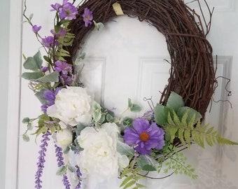 Summer wreath,front door decor,front door wreath,spring wreaths for front door,wreaths,wall decor,Birthday gift,Summer wreath for front door
