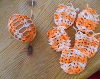 6 piece Easter egg cover set, handmade crochet, cover