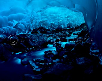 Blue Stairway, Color Photography,  Landscape Photography, Nature, Alaska,  Junea