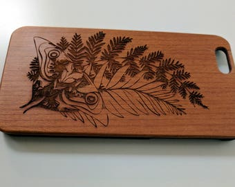 TLOU Ellie's Tattoo laser engraved on wooden iPhone 7 case