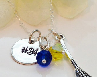 Personalized  Lacrosse Charm Necklace-Mom Lacrosse Necklace-Team Lacrosse Necklace-LAX team Jewelry-Lacrosse Charm