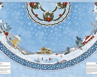 Winter's Eve Tree Skirt Panel by Wilmington Prints