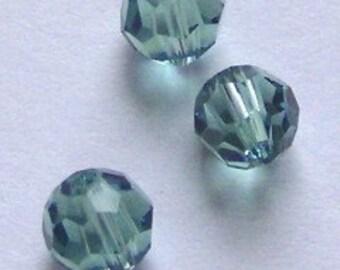 Clearance -- 10 Swarovski 6mm ROUND 5000 Crystal Beads ERINITE