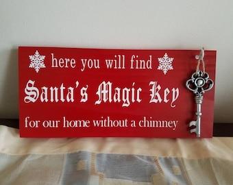 Santa's Magic key plaque