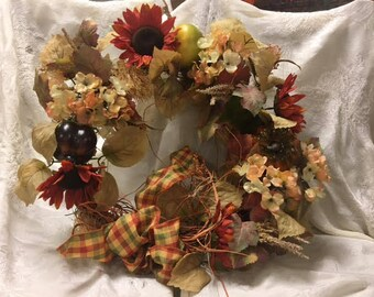 Plaid Fall Wreath