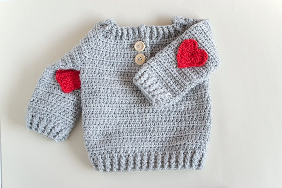 CROCHET PATTERN - Crochet Baby Sweater Red Heart - Baby Pullover ...