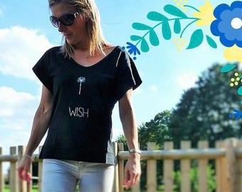 Spring Clearance - Make a WISH Dandelion Wish Tee - 2 Colours