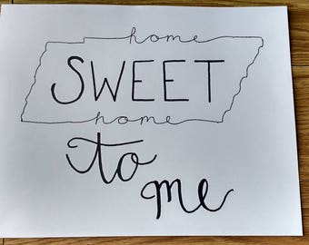 Handmade Song Lyric Sign - Rocky Top