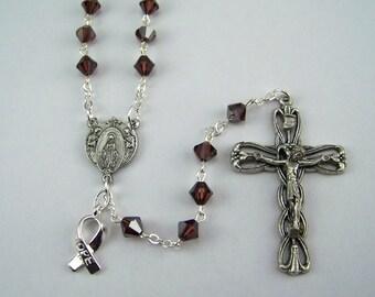 Burgundy Awareness Rosary