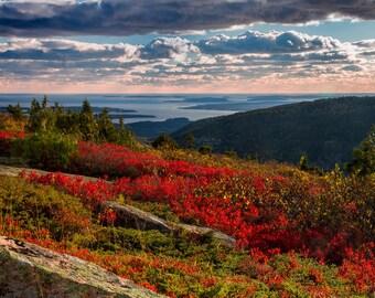 Sunset at Cadillac Mountain, Acadia National Park