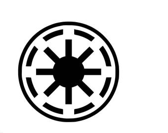 Star Wars Decal Galactic Republic Decal Car Vinyl Decal