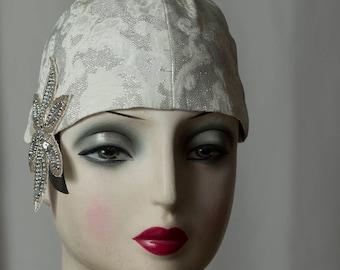 """Für eine Vintage Hochzeit im 20s/20er Jahre Gatsby Stil, zum Charleston Outfit, für eine Flapper Party, Headpiece der """"Roaring Twenties""""."""