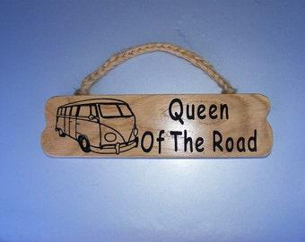 VW Camper Van Hanging Wooden Plaque