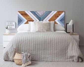 Headboard, Wood Wall Art, Reclaimed Wood Wall Art, Geometric Wall Art, Wood Art